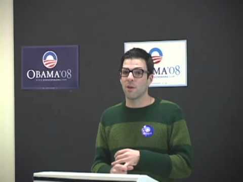 cmuTV Video Zachary Quinto obama 2007
