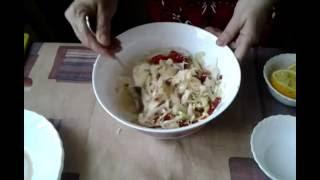 Салат для похудения :ПЕКИНСКАЯ КАПУСТА,сельдерей,БОЛГАРСКИЙ ПЕРЕЦ,кунжут