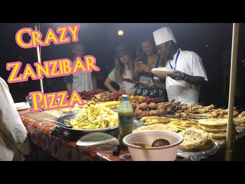 🔥Epic Street Food Porn: Zanzibar Pizza🇹🇿Stone Town Tanzanian/African streetfood—Travel Vlog 14
