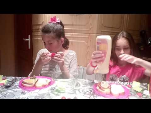 Sandwich challenge 😱💟