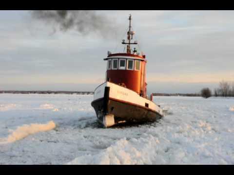 Tug Boat Breaking Ice in Belleville, Ontario -Tim Van Horn