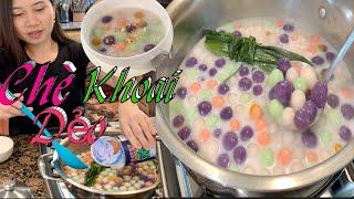 Cách Nấu Chè Khoai Lang Dẻo Đơn Giản Đẹp Mắt Dẻo Dai Và Ngon Tuyệt Vời - Sweet Potato Balls Dessert