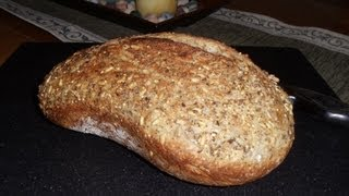 No-knead Harvest 8 Grain Wheat Bread (easy... No Mixer... No Yeast Proofing)