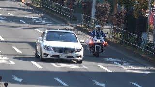 S550の横で白バイ並走!!!スピード違反のベンツが速度超過で交通機動隊に検挙される瞬間!!!