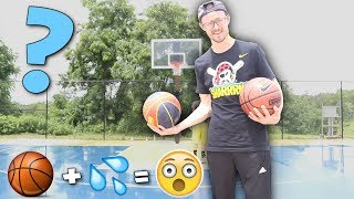INFLATING A BASKETBALL WITH WATER CHALLENGE!! (IT ACTUALLY WORKS!)