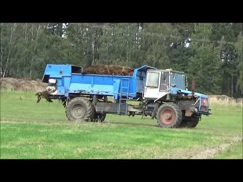 Rozmetání Hnoje ŠT- 180 S Rozmetadlem RMA 8