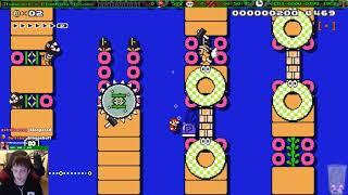 Super Mario Maker - The hardest water level I've ever beaten