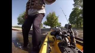 may 2014 marsh creek lake fishing for muskie and bass from a kayak