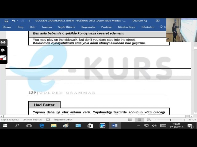 nettekurs.com Online TIPDiL Kursu - Modal Verbs / Örnek Ders - 6 - Uzaktan Eğitim Dershanesi