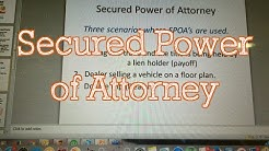 PA Car Dealerships (Secured Power of Attorney)