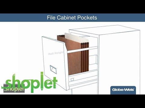 Globe Weis Heavy Duty File Cabinet Pockets