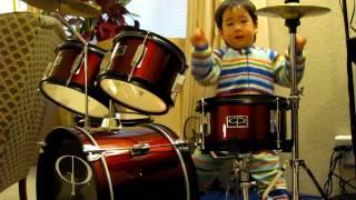 Talented 2 Year Old Drummer (29 months old) Original