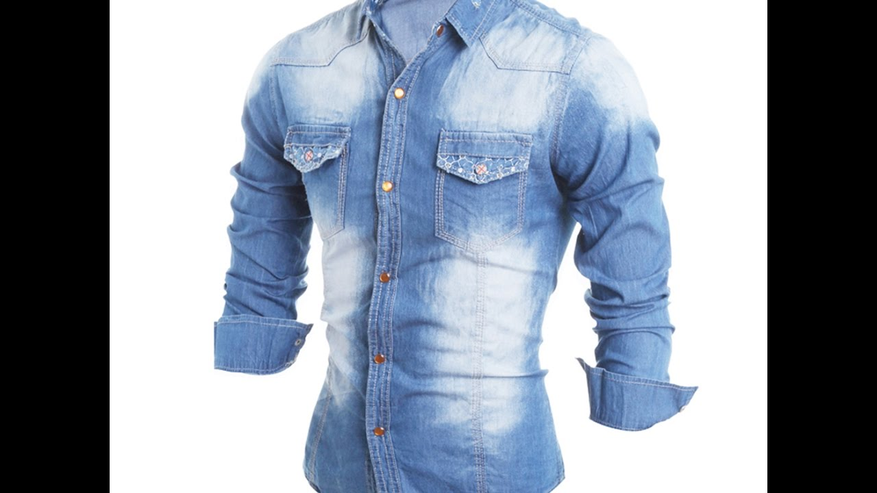 51a331284e4 Denim shirt for men  stylish shirt designs for denim - YouTube