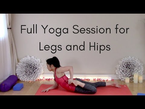 Full Hatha Yoga Class for Legs and Hips (60 Minutes)