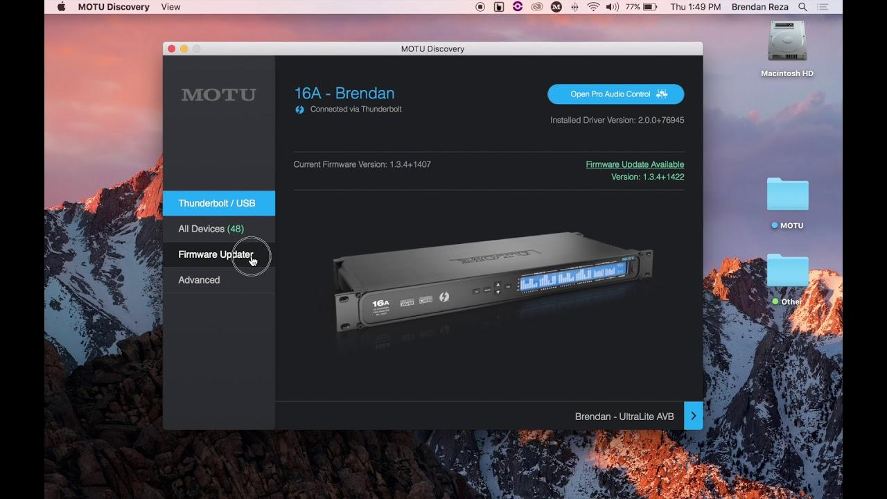 MOTU com - MOTU AVB firmware updates
