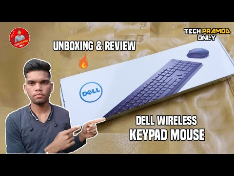 Unboxing & Review Dell Wireless Keypad Mouse | Wireless Keypad Mouse | Tech Pramod Only