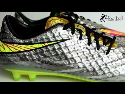 5e1b49ceb6ec Nike Hypervenom Phantom FG Neymar Limited Edition CHROME logo - YouTube