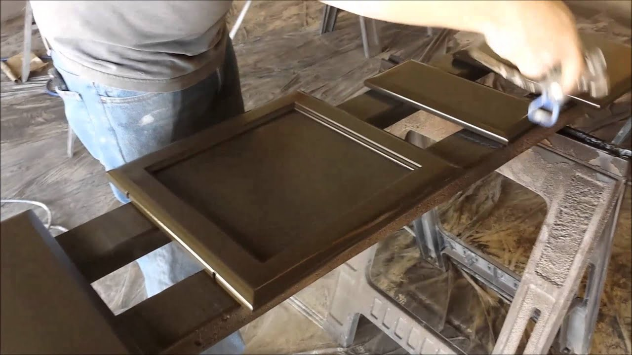Kitchen Cabinet Espresso Color Getting Rid Of Hand Painted Faux Cabinets With Dark Espresso