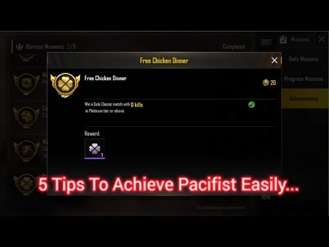 How To Achieve Pacifist | PUBG MOBILE | Easy TIPS & TRICKS |