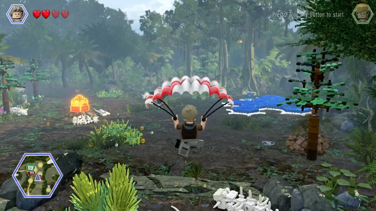 Lego Jurassic World 100 Guide Isla Sorna Hub All