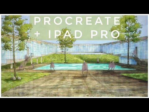 ✏️-procreate-&-ipad-pro---dibujo-arquitectura-/-architectural-renderings---hotel-01-(2020)