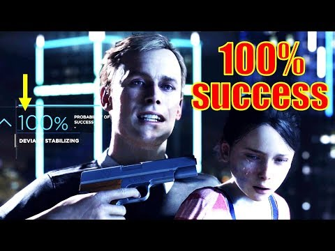 100% Probability of Success - Detroit: Become Human - Demo Full Playthrough [HD PS4 Pro]