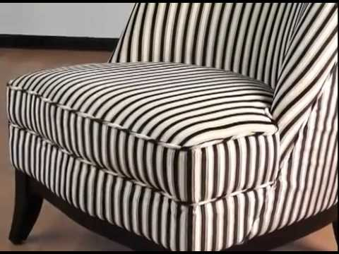 Jester Tuxedo Fabric Armless Club Chair By Armen Living