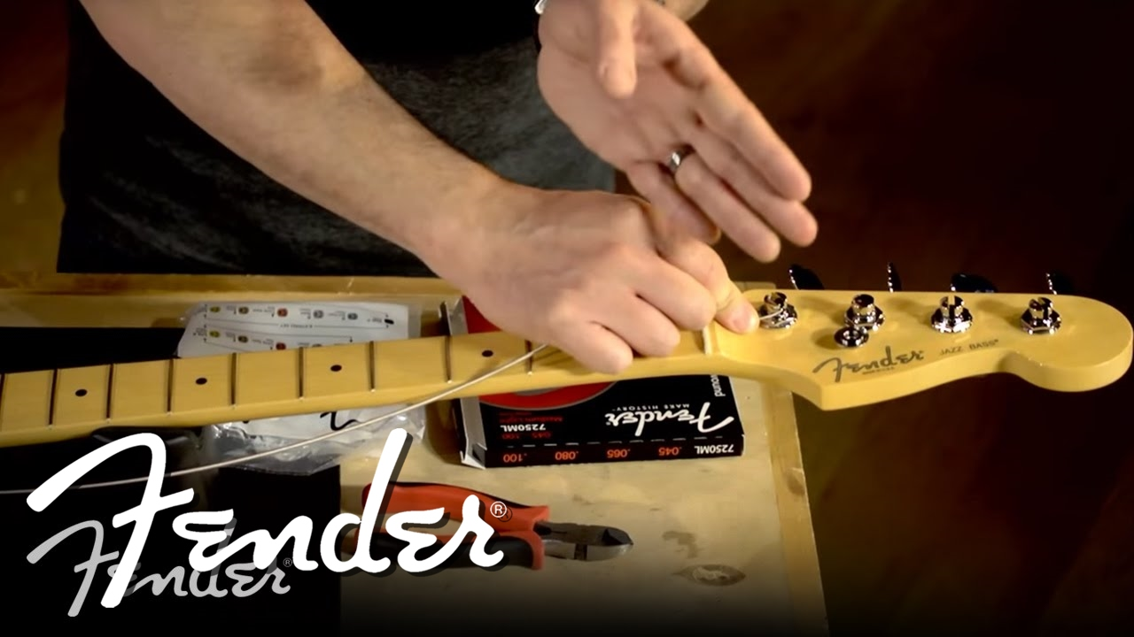 How To Change Your Bass Strings Fender Youtube Ii Epiphone Les Paul 100 Standard Strat Wiring Mod