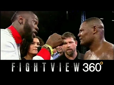 WILDER CONFRONTS LUIS ORTIZ IN RING! ORTIZ CALLS WILDER A B!TCH! WILDER VS ORTIZ 2018 OFFICIAL?