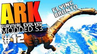 ARK Survival Evolved - MAX SPEED CHAMPION BRONTO, GOD WYVERN, MK5 Modded #12 (ARK Mods Gameplay)