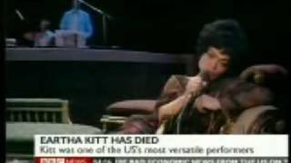 """Eartha Kitt """"Santa Baby"""" Dies at 81""""obituary"""""""