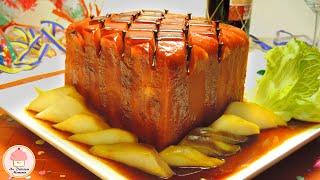 Jamón Glaseado Al Horno Con Ensalada De Peras / Baked Glazed Ham With Pear Salad.