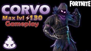 CORVO Novo Soldado Mítico! Max lvl 130 Gameplay - Recupere os Dados lvl 100 Twine Peaks - Fortnite