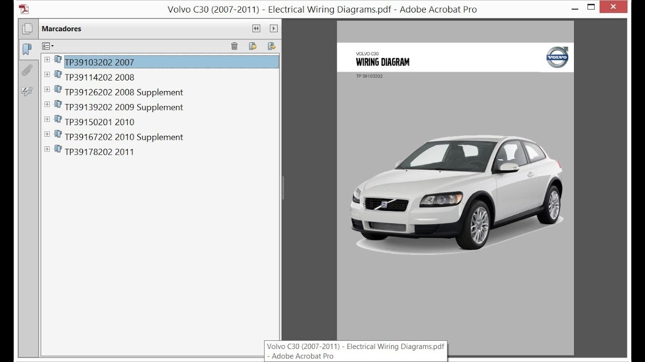 Volvo C30 (2007-2011) - Electrical Wiring Diagrams - YouTube | Volvo C30 Wiring Diagram |  | YouTube