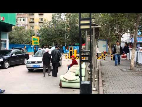 Walking through a street in Urumqi China
