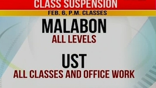 Class and Number coding Suspension (Feb 6, 2017)