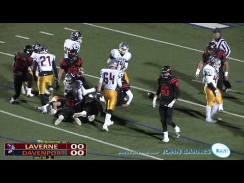 PTCI Football Laverne vs Davenport 12-2-16