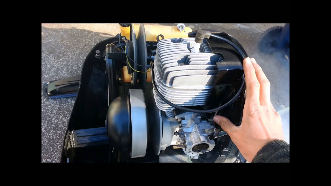 how to start a skidoo 4500