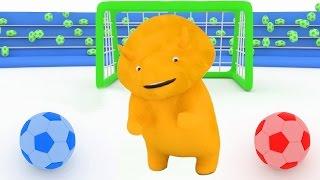 naucz sie kolorów kształtów Gra w Piłkę z Dino Dinozaurem bajka edukacyjna dla dzieci i niemowlaków