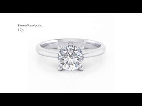 250dee0b6cde Anillo solitario con diamante réplica 1 quilate - NAVAS JOYEROS by ...