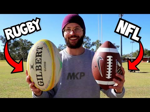 Rugby Player Throws American Football For The First Time.