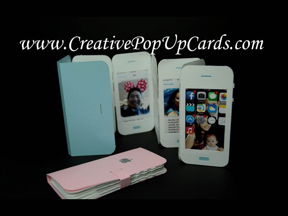 Cell Phone Ribbon Card Tutorial Youtube