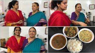 இன்றைய சமையல்/CM's Cooking Vlog/Race Kuzhambu/More Rasam/vendhaya keerai capsicum Paruppu usili Video
