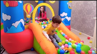 Bouncy Castle Fun for Kids with Balls