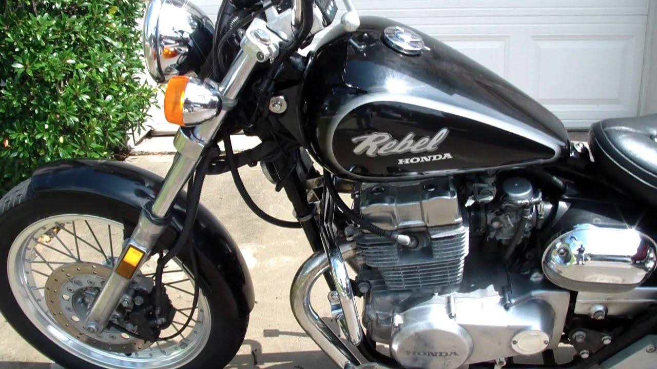 Honda Rebel 450 >> 1987 Honda Rebel CMX450C Atascocita Tx.MP4 - YouTube