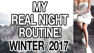 MY REAL WINTER NIGHT ROUTINE! 2017