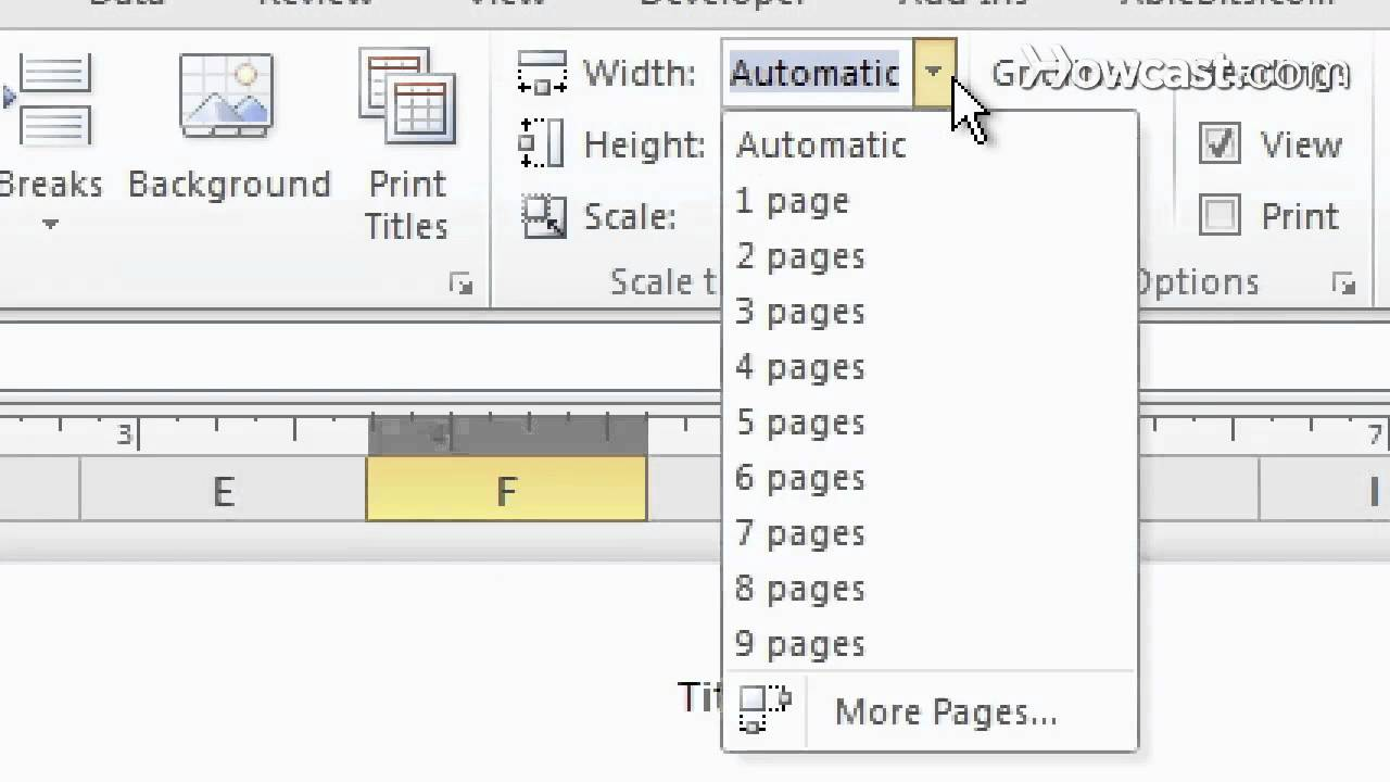 how to use page setup how to print microsoft excel youtube
