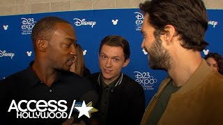 'Avengers: Infinity War' At D23: Anthony Mackie's Hilarious' Red Carpet Interplay With Tom Holland