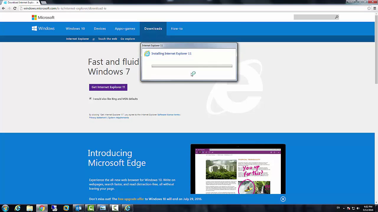 how to update internet explorer in windows 7