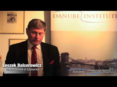 Leszek Balcerowicz at Danube Institute, Budapest